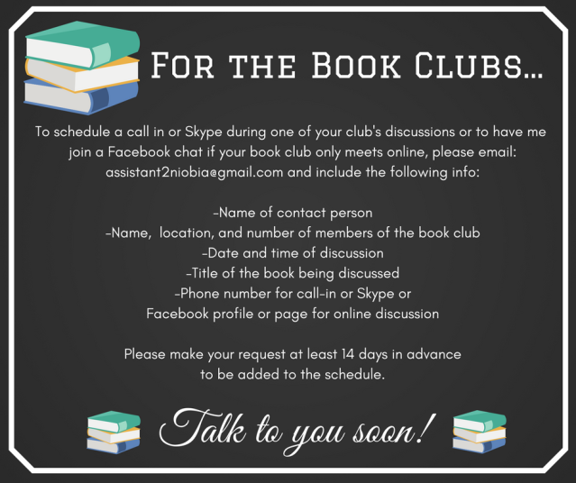 For the Book Clubs...
